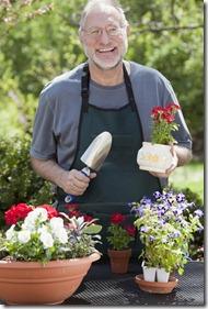 Senior Man Gardening Outdoors